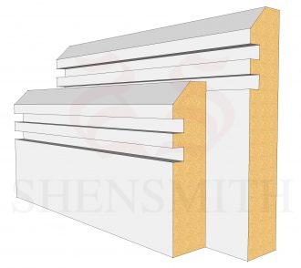 45 Rebated 2 MDF Skirting Board