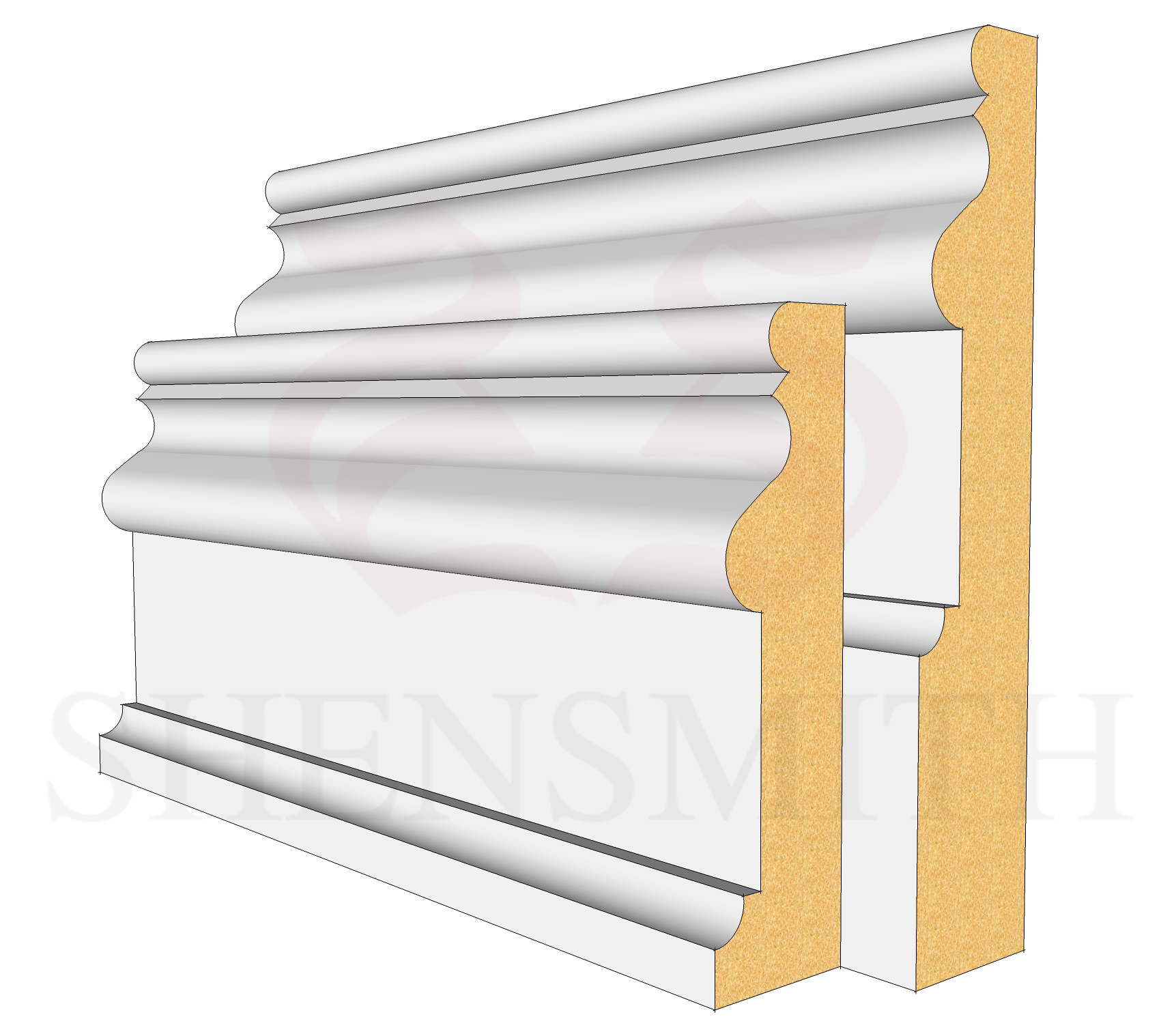2059 Profile Skirting Board