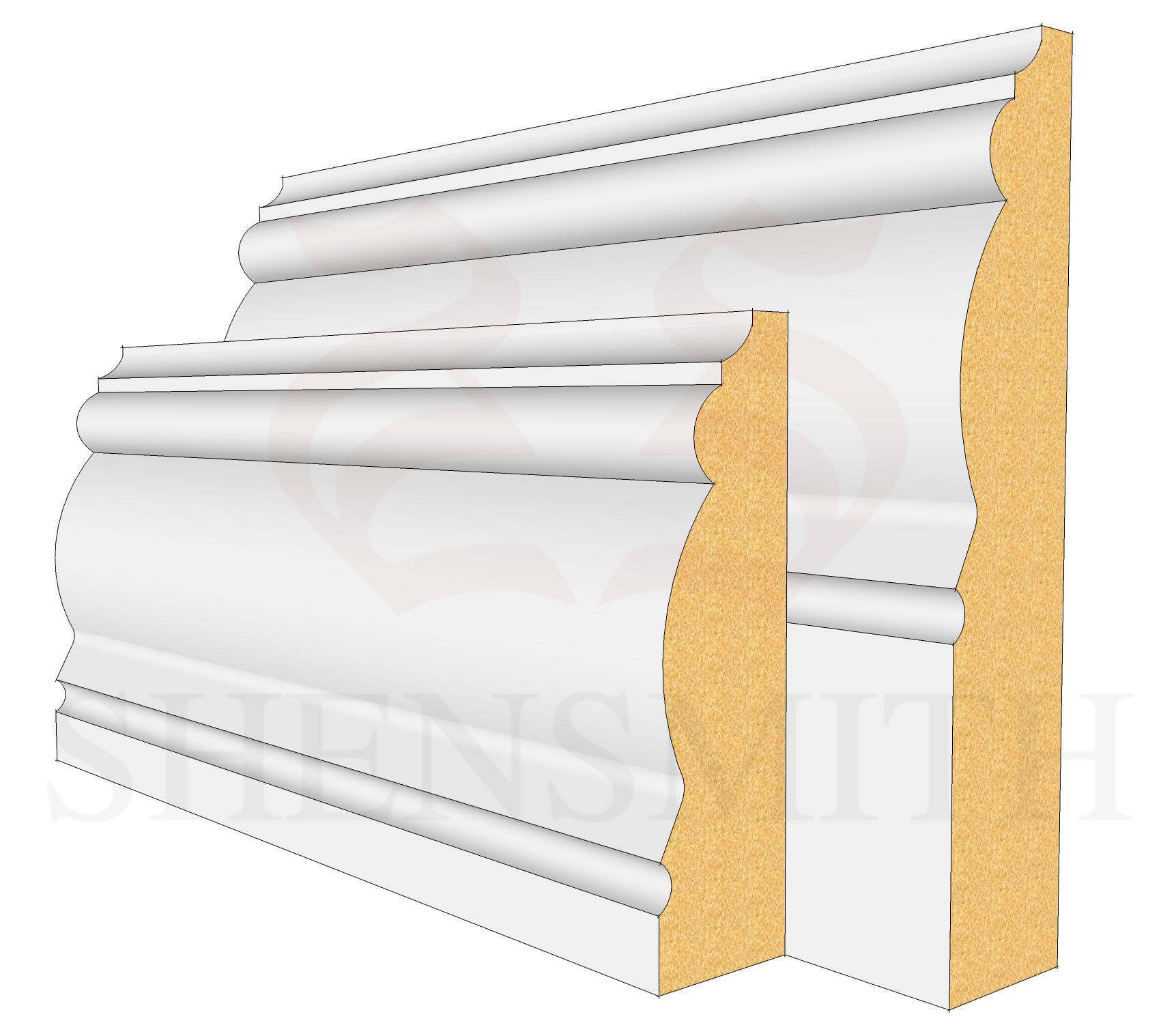 2305 Profile Skirting Board