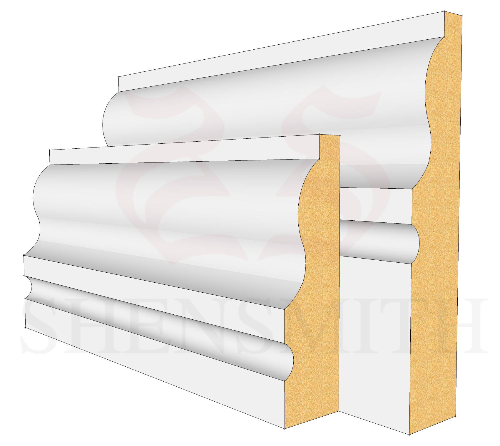 327 MDF Skirting Board