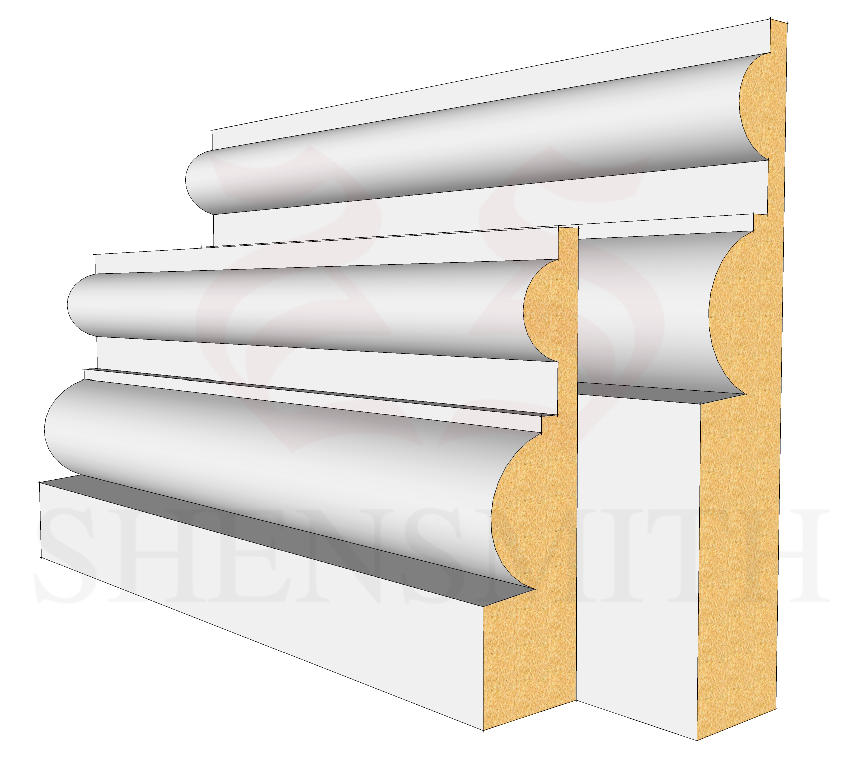 Belmoral Profile Skirting Board