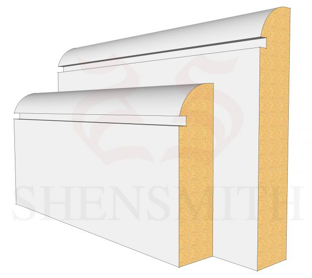 Bullnose Rebated 1 MDF Skirting Board