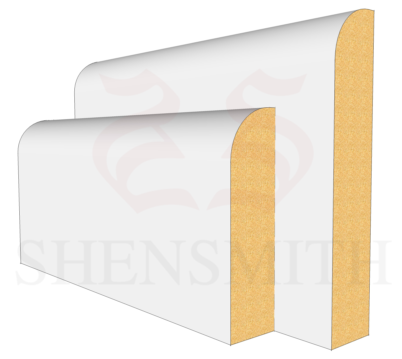 Bullnose MDF Skirting Board