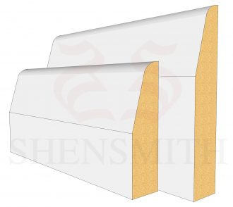 Chamfered MDF Skirting Board