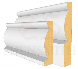 Domed MDF Skirting Board