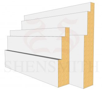 Double Step MDF Skirting Board
