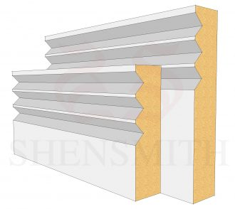 Jazz 3 Profile Skirting Board