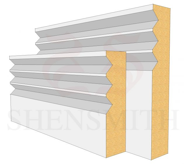 Jazz 3 MDF Skirting Board