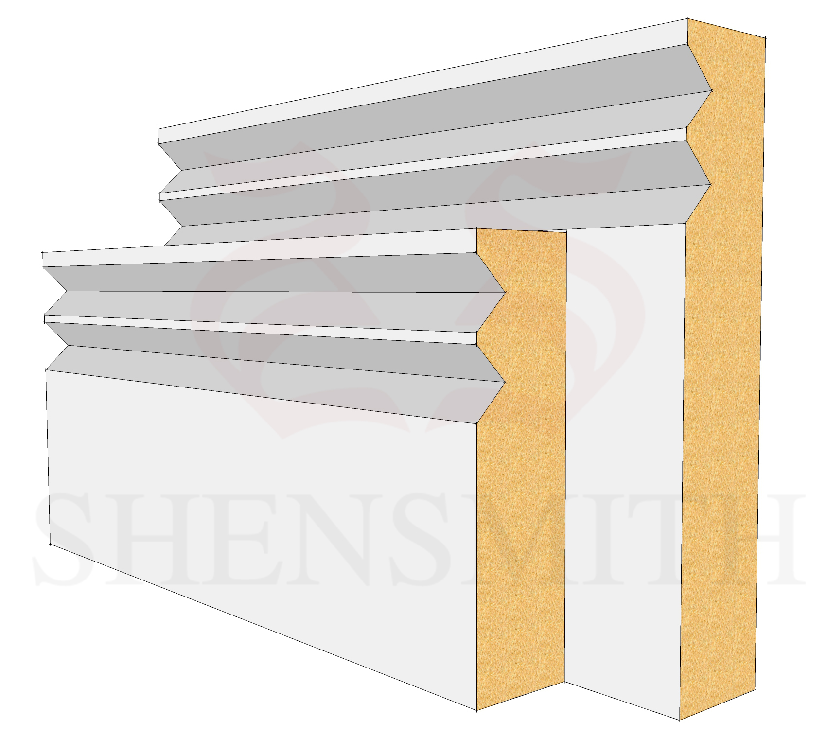 Jazz MDF Skirting Board