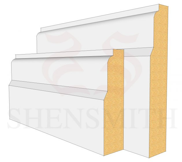Lambs Tongue MDF Skirting Board
