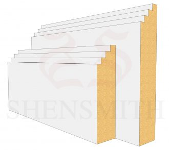 Mini Steps MDF Skirting Board