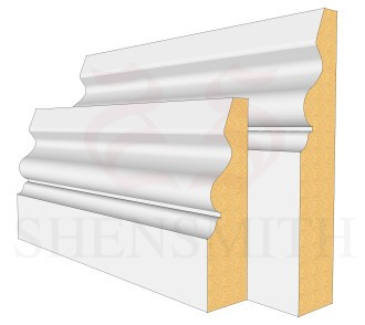 Ogee 4 MDF Skirting Board
