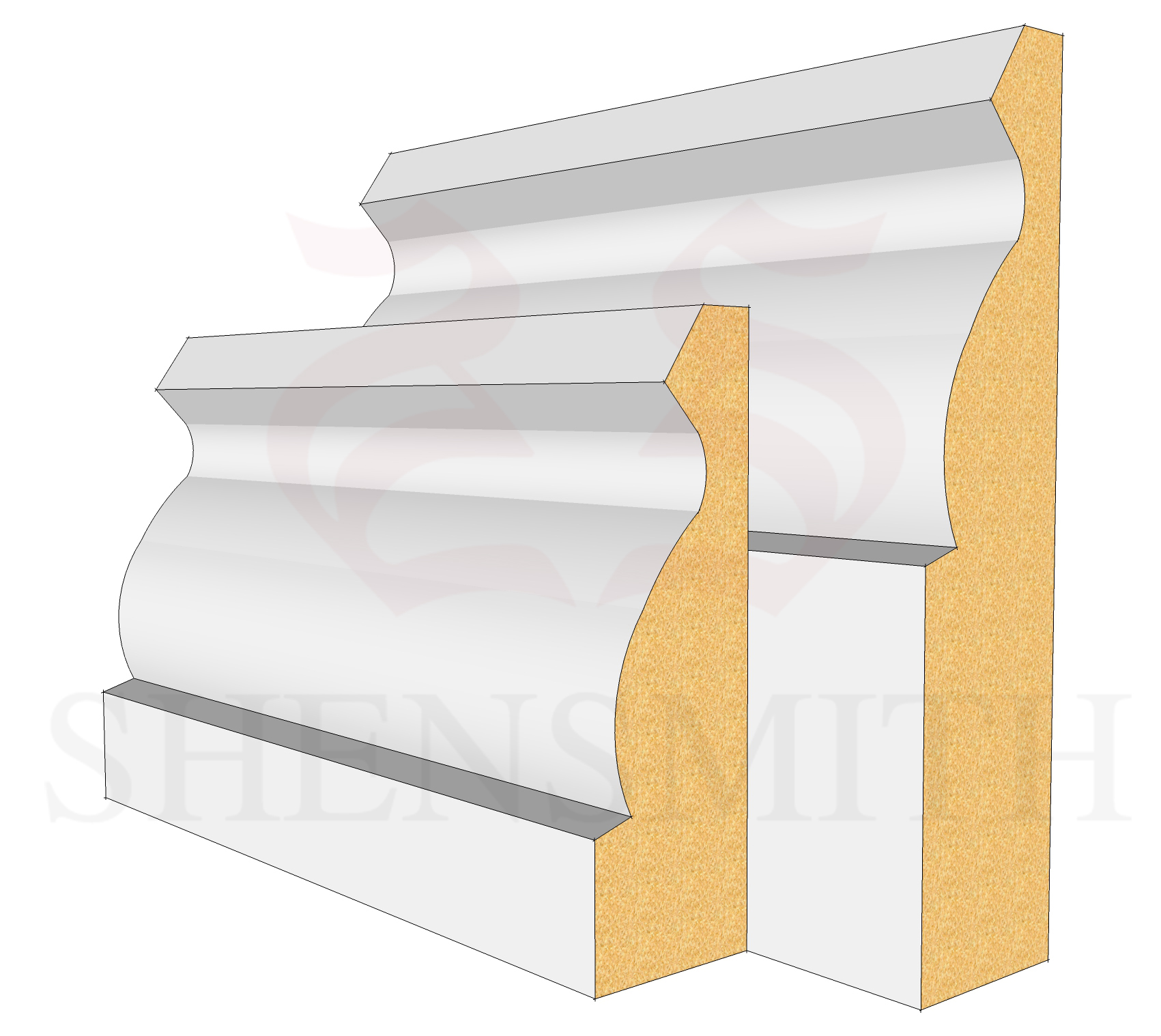 Ogee MDF Skirting Board