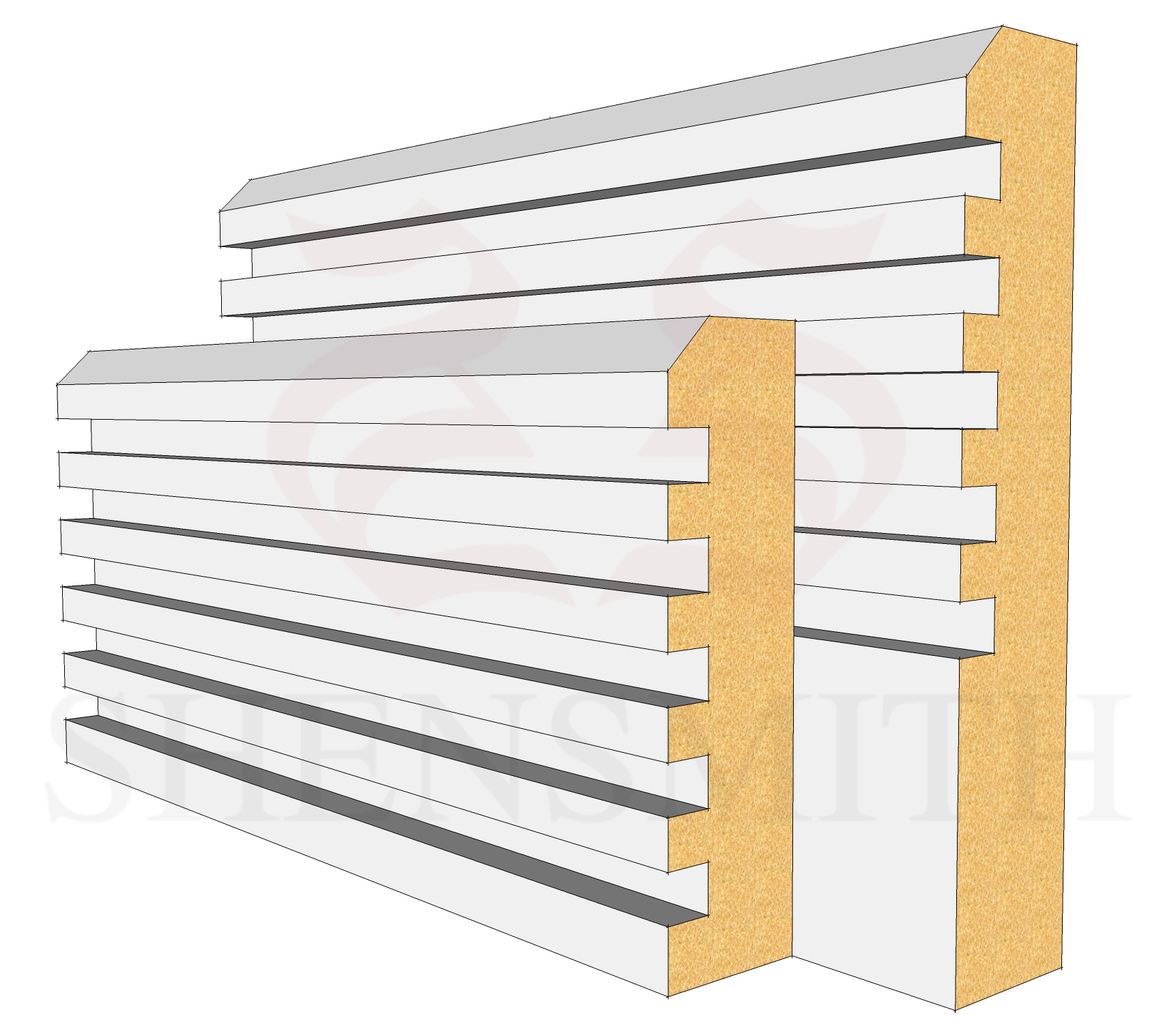 Ribbed Profile Skirting Board