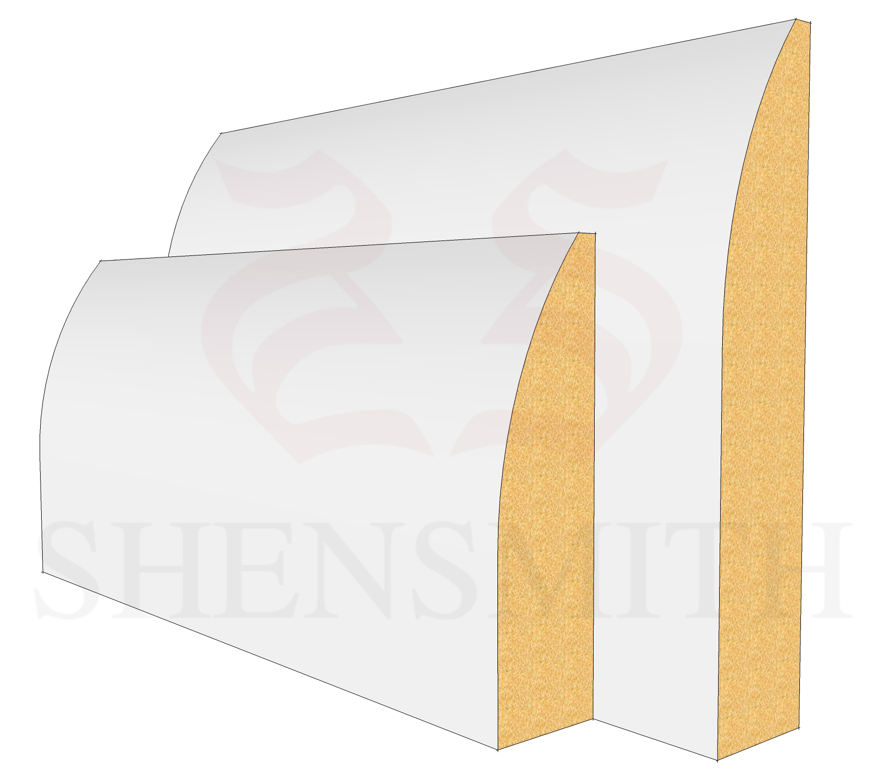 Round MDF Skirting Board