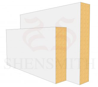 Square edge Profile Skirting Board