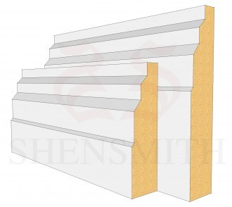 Stepped Profile Skirting Board