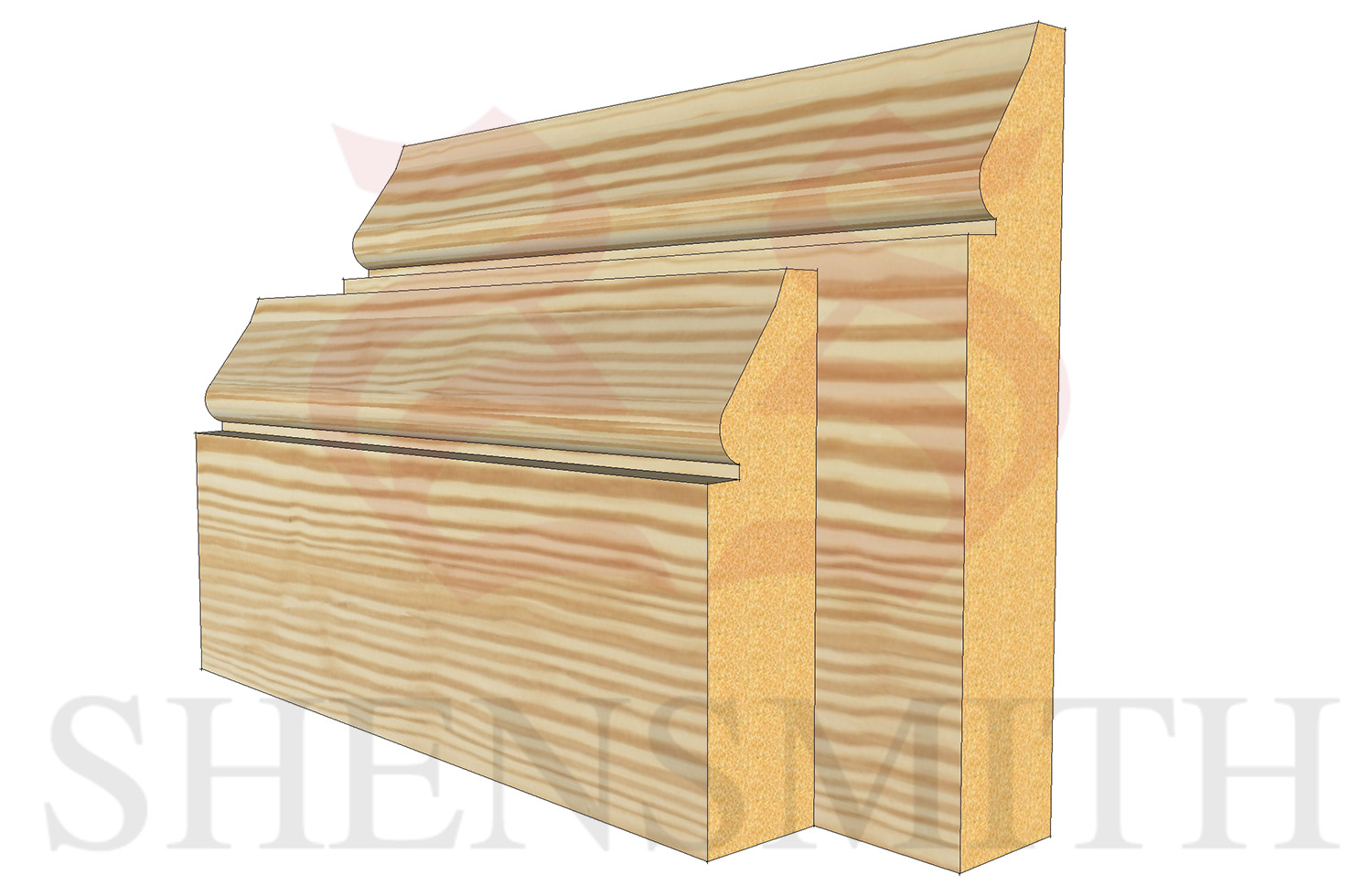 1898 profile Pine Skirting Board