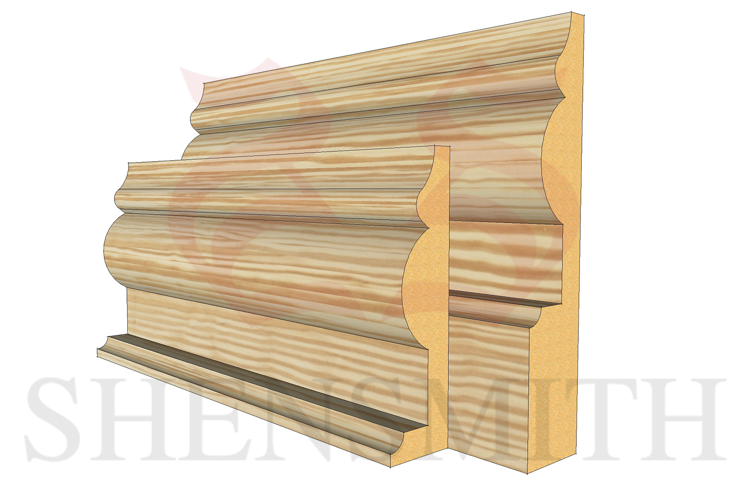 1914 profile Pine Skirting Board