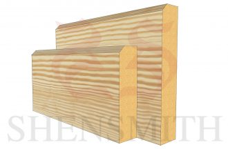 EDGE 2 profile Pine Skirting Board