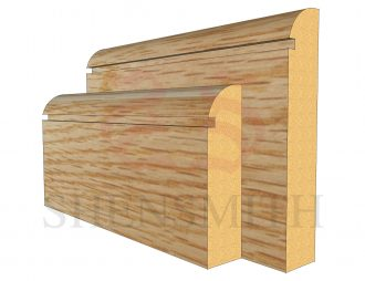 bullnose rebated 1 Oak Skirting Board