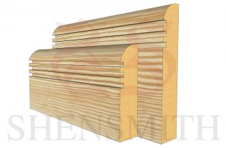 bullnose rebated 3 profile Pine Skirting Board