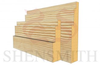 double step profile Pine Skirting Board