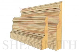 edwardian profile Pine Skirting Board