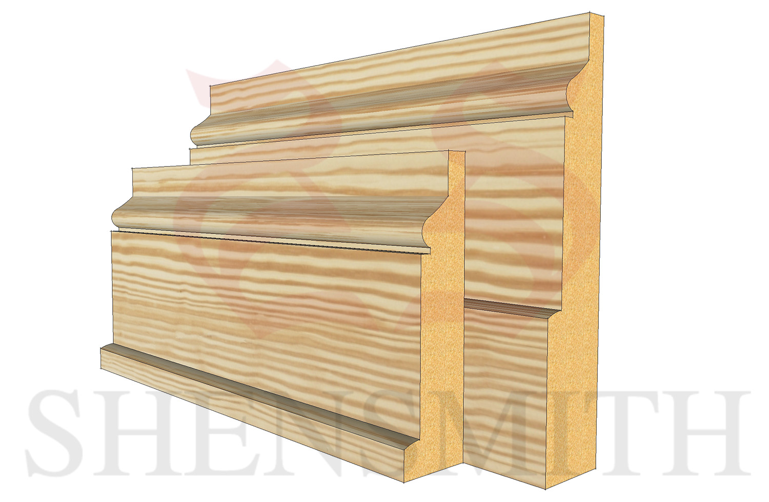 hazel profile Pine Skirting Board