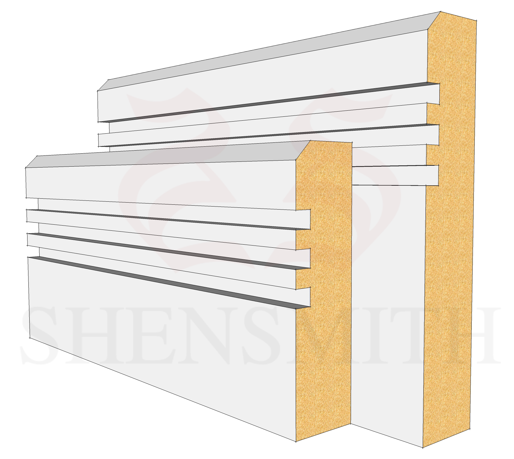 Modern 2 Profile Skirting Board