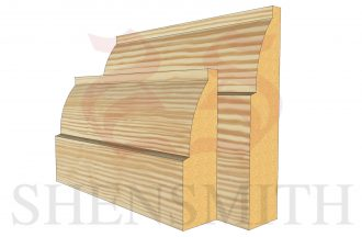 ovolo profile Pine Skirting Board