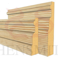 reeded 1 profile Pine Skirting Board