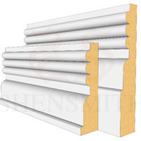 Reeded 3 MDF Skirting Board