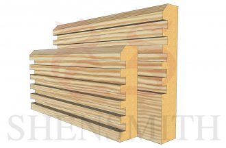 ribbed profile Pine Skirting Board