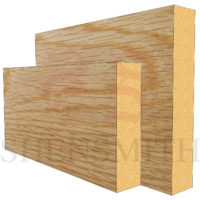 square edge Oak Skirting Board