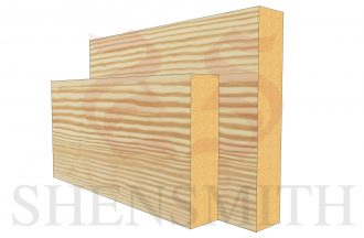 square edge profile Pine Skirting Board