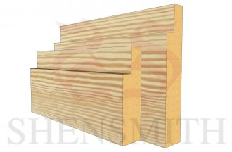 step profile Pine Skirting Board