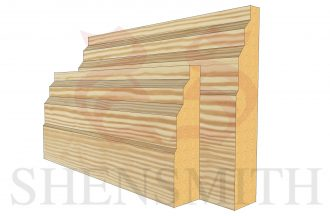 stepped profile Pine Skirting Board