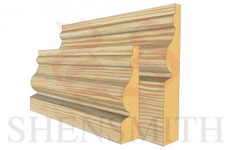 ward profile Pine Skirting Board