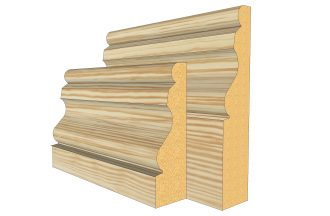 Ogee 2 Pine Skirting Board thumb