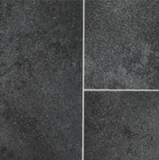 Black-Tile-Effect-Vinyl-Flooring-Kitchen-Vinyl-Floors-2-metres-wide-choose-your-own-length-in-1FTfoot-Lengths-0