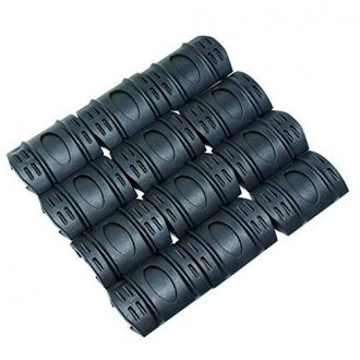 12Pc-Rifle-Hand-Guard-Quad-Rail-Covers-Rubber-Tactical-for-Weaver-Picatinny-Black-0