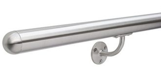 Stainless-Steel-Brushed-Staircase-Bannister-Balustrade-Hand-Rail-Domed-Ends-Select-your-length-0